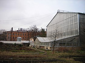 Greenhouse (external view), Botanical Gardens, Saint Petersburg State University, Russia (10 April 2008).jpg