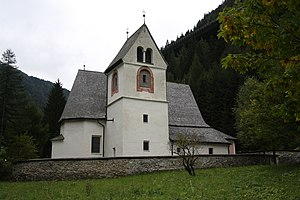 "Gries am Brenner - The church ""Saints Christopher and Sigismund"" at Leug."