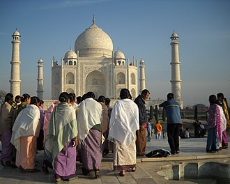 Taj Mahal - Visitors at Taj Mahal