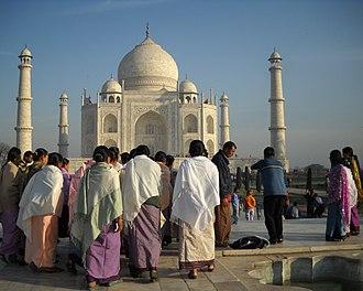 Taj Mahal - Visitors at Taj Mahal