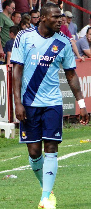 Guy Demel - Demel playing for West Ham  in 2014.
