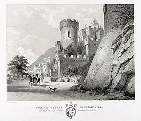 Gwrych Castle, Denbighshire. The Seat of Lloyd Hesketh, Bamford Hesketh Esq.re
