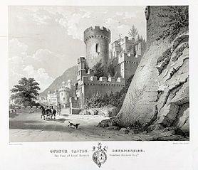 Gwrych Castle, Denbighshire. The Seat of Lloyd Hesketh, Bamford Hesketh Esq.re