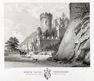 Gwrych Castle - Walton,W.L., fl. 1834-1855, engraver