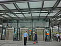 HK 啟德郵輪碼頭 Kai Tak Cruise Terminal Park roof covered lift tower workers visitors Nov-2013.JPG