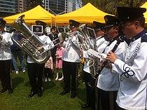HK 禮賓府 Government House 開放日 Open Day Uniform in white live band April-2012.jpg