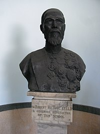 HK 1 Wong Chuk Hang Road 香港仔工業學校 Aberdeen Technical School ATS Sir Robert Ho Tung bust April-2012.JPG