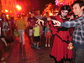HK Disneyland USA Main Street Halloween night staff artist Oct-2013 014.JPG