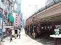 HK Tram tour view Causeway Bay 軒尼詩道 Hennessy Road 堅拿道行車天橋 Canal Road East flyover Bridge August 2018 SSG 06.jpg