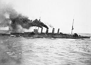 HMAS Sydney (1912) - Image: HMAS Sydney 1914 AWM EN0194