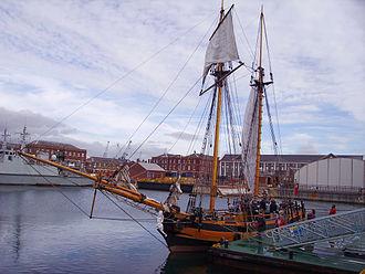 John Richards Lapenotière - Pickle replica, at Portsmouth 2005.