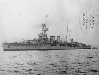 C-class cruiser - HMS Curacoa in 1941