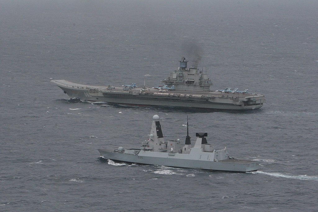 HMS Dragon with Russian Aircraft Carrier 'Admiral Kuzetsov' MOD 45157554.jpg