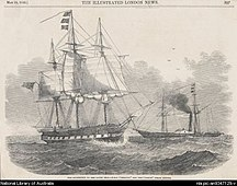 Lord Howe Island-1842–1860: Trading provisions-HMS Herald