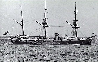 HMS Pylades (1884) - Image: HMS Pylades (1884) AWM 302246