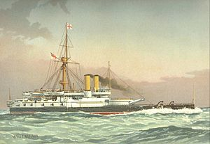 HMS Victoria (1887) William Frederick Mitchell.jpg