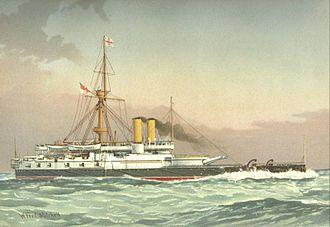 HMS Victoria (1887) - Image: HMS Victoria (1887) William Frederick Mitchell