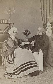 Az idős Ferenc Károly főherceg és Zsófia főhercegné