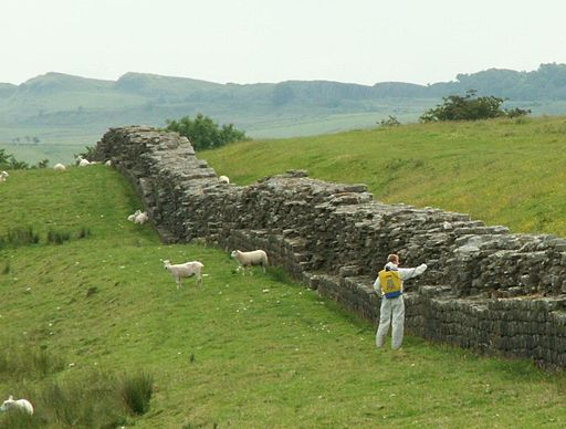 Hadrians Wall with Weedkiller