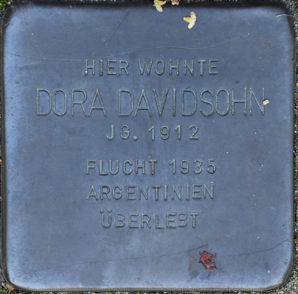 Hagenow Stolperstein Parkstraße 33 Davidsohn, Dora