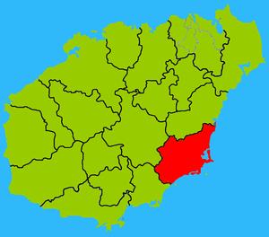 Wanning - Image: Hainan subdivisions Wanning