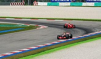 2007 Malaysian Grand Prix - Lewis Hamilton kept Kimi Räikkönen's Ferrari at bay to score McLaren's first one-two since the 2005 Brazilian Grand Prix.