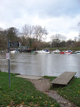 Hammerton's Ferry - The jetty on the south bank