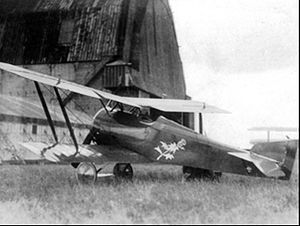 9 Squadron (Belgium) - Hanriot-Dupont 1 of 9 Squadron in 1919