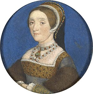 Catherine Howard - The Buccleuch version of the Holbein miniature