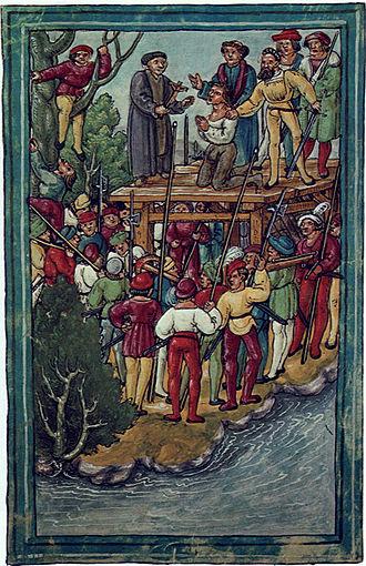 Hans Waldmann (mayor) - Execution of Hans Waldmann (Luzerner Schilling, 1515).