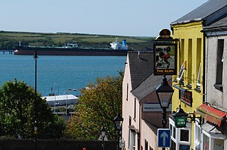 Milford Haven Waterway - View of Milford Haven Harbour from town