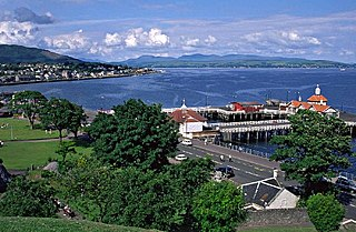 Dunoon Town in Scotland