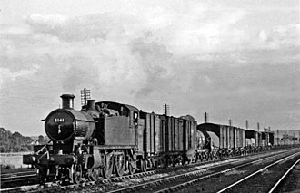 GWR 5100 Class - 5141 (ex 3141) at Haresfield Naas Crossing in 1950