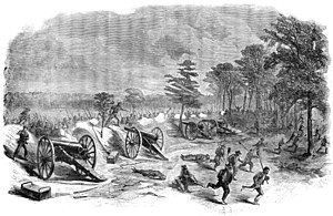First Battle of Deep Bottom - Image: Harper's Weekly Capture of four guns, July 27 1864