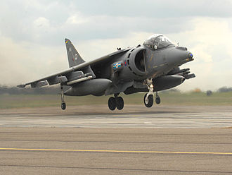 Military Engineering Experimental Establishment - RAF Harrier landing on a MEXE pad