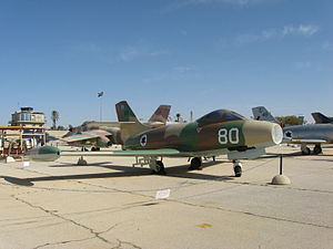 Dassault Ouragan - Ouragan at the Israeli Air Force Museum in Hatzerim.