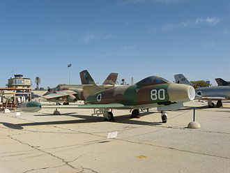 Dassault Ouragan - Ouragan at the Israeli Air Force Museum in Hatzerim.