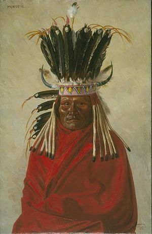Silver Horn - Painting of Silver Horn by E.A Burbank, 1898.
