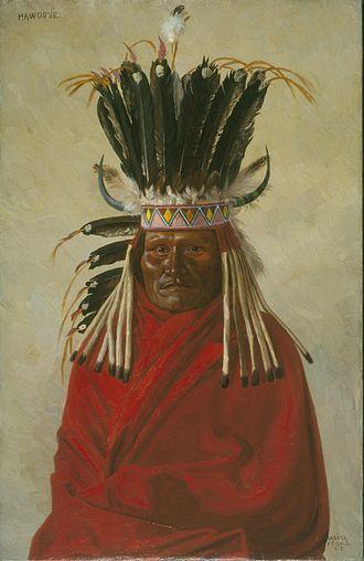Elbridge Ayer Burbank - Burbank's portrait of Silver Horn, a ledger artist