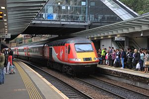 Highland Chieftain - Virgin Trains East Coast Class 43 HST at Haymarket operating the Highland Chieftain