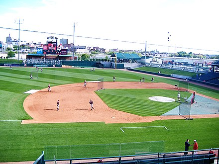 Haymarket Park, home to the Lincoln Saltdogs, an independent baseball team in Lincoln, Nebraska Haymarket park.JPG
