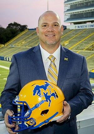 Lance Guidry - Image: Head Football Coach Lance Guidry (Mc Neese State)