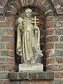 Heeswijk abdij Berne, Rijksmonument 520572 toegangspoort straatzijde, beeld St.Norbertus.JPG