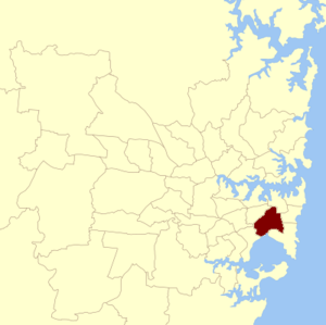 Heffron state by-election, 2012 - The location of the seat of Heffron within Sydney