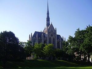 The university's Heinz Memorial Chapel.