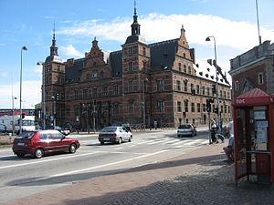 Helsingør Station - Front facade of Helsingør Station