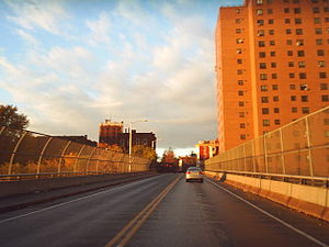 Sheridan Hollow, Albany, New York - Henry Johnson Boulevard is carried over Sheridan Hollow on a viaduct.