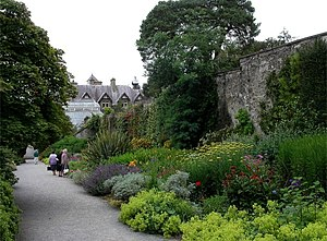 English: Herbaceous border, Bodnant Gardens
