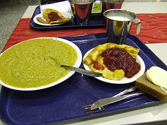 Pea soup - Finnish pea soup and pancakes served by Finnish Defence Forces