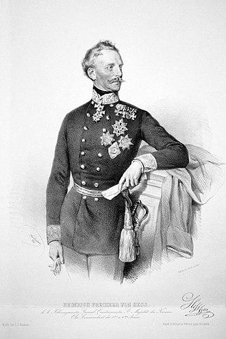 Heinrich von Heß - Heinrich von Heß, by JosefKriehuber, 1854